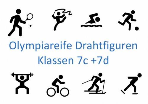 Olympiareife Drahtfiguren