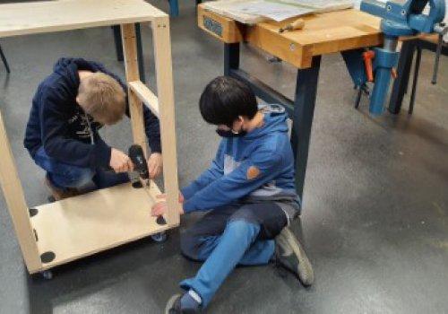 Bau von Beamerwagen im WPK Technik