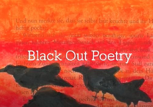 Black Out Poetry - eine Form der Buchkunst