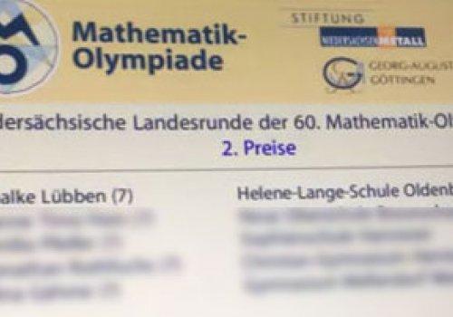 Landesrunde der Mathematikolympiade